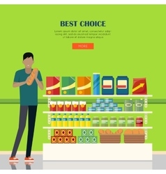 Banner for supermarkets and grocery stores vector