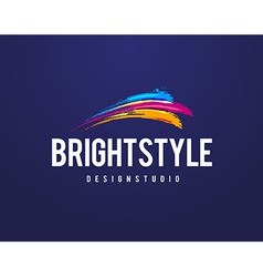 Bright style logo vector