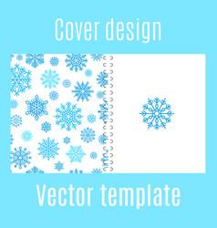 cover design with winter snowflake pattern vector image vector image