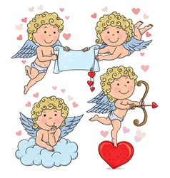 Cupids kids 2 vector