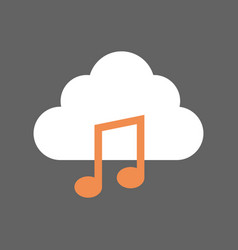 Digital music mobile cloud database icon vector