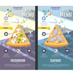 Flat style pizza menu design vector
