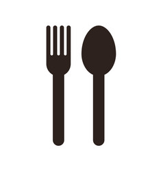 fork and spoon sign vector image vector image