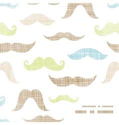 Fun silhouette mustaches frame corner pattern vector