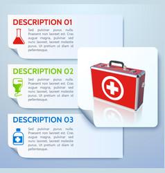 healthy medicine horizontal banners vector image vector image