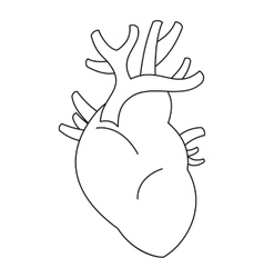 Heart icon outline style vector image
