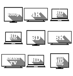 High definition icons vector image vector image