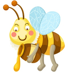 Isolated bee vector