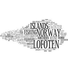 Lofoten word cloud concept vector