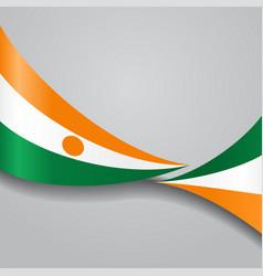niger wavy flag vector image vector image