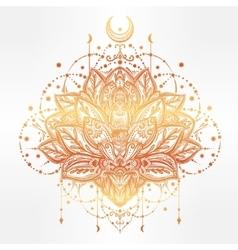 Ornamental lotus flower vector