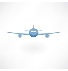 Plane flies icon vector