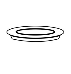plate dish food cooking image line vector image