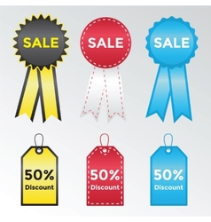 Set of labels and stickers for sales vector image