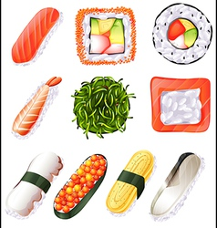Set of sushi vector image vector image