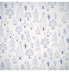 Simple Christmas tree icon seamless pattern vector image