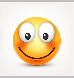 Smileysmiling happy emoticon yellow face with vector