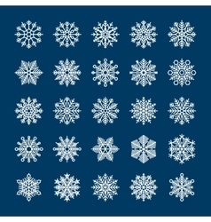 Snowflakes set for winter holiday invitations vector image vector image