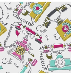 telephone drawing background vector image vector image