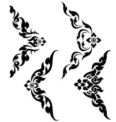 Thai art corner set vector image vector image