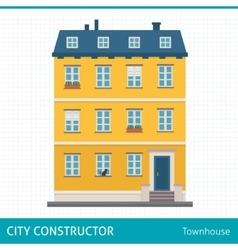 Townhouse vector image