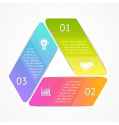 Triangle infographic template for cycle vector