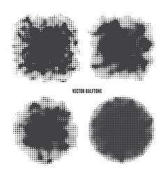 Halftone set vector