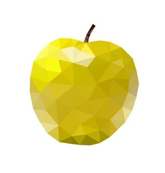 Low poly apple icon yellow vector image