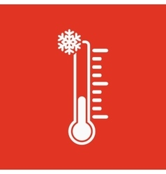 The thermometer icon low temperature symbol vector