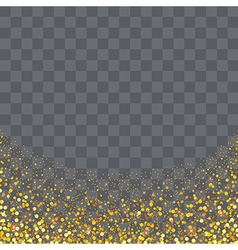 gold glitter particles on transparency background vector image