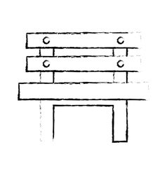 Oudoors bench icon image vector