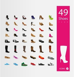 Shoes icons set set of 30 quality icons vector
