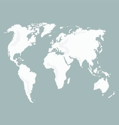 World map isolated vector