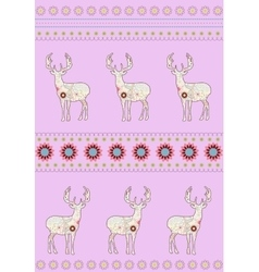 Deers with flowers vector image