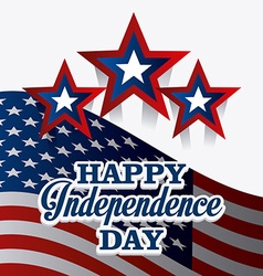 Independence day card design vector