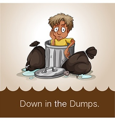 Down in the dumps vector