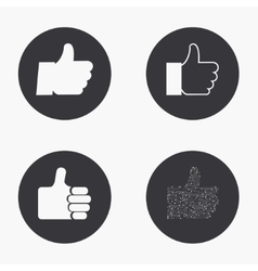 modern thumb up icons set vector image