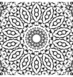 Symmetrical black and white pattern seamless vector