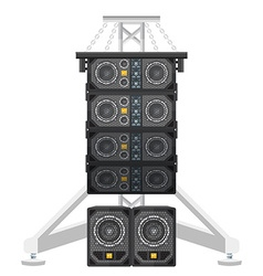 Line array concert acoustics on truss suspension vector