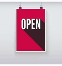 Open shopping door signs board vector