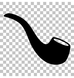 Smoke pipe sign Flat style black icon on vector image