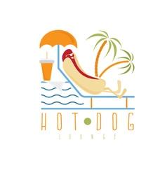 Hot dog lounge concept design template vector
