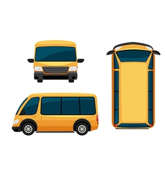 A view of a vehicle vector image vector image