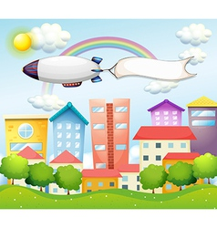 An aircraft and the empty banner vector image vector image