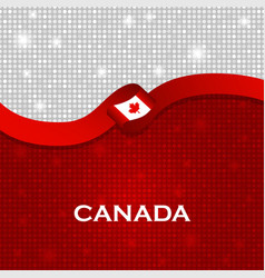 Canada flag ribbon shiny particle style vector
