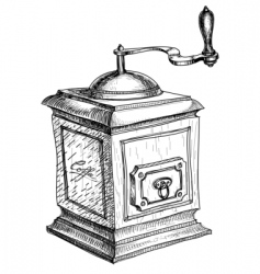 coffee grinder sketch vector image