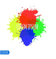 Colorful Paint Splats vector image