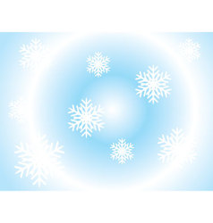 day-snowflakes vector image