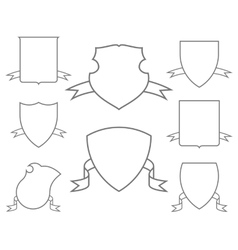 Escutcheons for coat of arms set vector image
