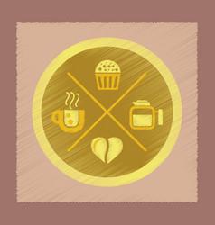 Flat shading style icon coffee logo vector